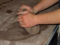 Hand kneading